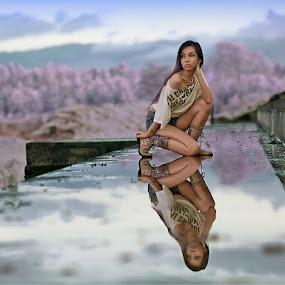 He`s Gone by Chandra Wirawan - People Portraits of Women
