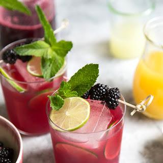 Blackberry Pineapple Rum Cocktail.