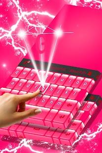 Glossy Pink Keyboard Theme - náhled