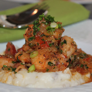 Spicy Shrimp and Andouille Over Charleston-Style Grits Recipe
