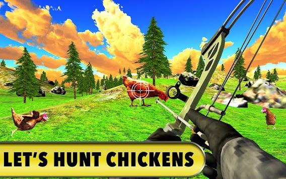 Chicken Hunting Challenge: Roaster Bow Shooting 3D apk screenshot
