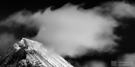 Photo: PLEASE VIEW LARGE!!  This is my contribution to the #MountainMonday theme, kindly curated by +Michael Russell , the #MonochromeMonday theme, kindly curated by +Siddharth Pandit and +Mark Metternich , the #FineArtPls theme, curated by the lovely +Marina Chen and +FineArtPls , the #BWFineArt theme, curated by the amazing Mr +Joel Tjintjelaar and +Black and White Fine Art Photography Gallery , #MistyMonday curated by +Martin Rak , #RectanglesAreSexy curated by the spectacular +Athena Carey and finally the #PlusPhotoExtract theme, run by +Jarek Klimek   This is an image of Wedge Mountain, with the clouds drifting over it in Garibaldi Provincial Park, near Whistler, British Columbia  It's my 1st mountain image in a new series...so stay tuned!!  All thoughts and comments welcome.  Please visit my website to view more of my images: http://www.createwithlightphotography.com  #PlusPhotoExtract #GrantMurray #CreateWithLightPhotography #BWFineArt #FineArtPls
