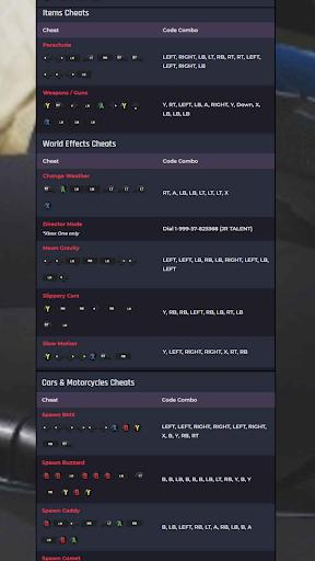 CHEAT CODES FOR GTA V screenshot 4