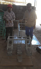 Photo: Three-Row Manual Weeder made by MCE-A staff in Timor Leste [Photo from MCEA blog, August 2013]