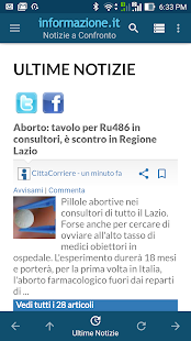 Notizie a Confronto- screenshot thumbnail