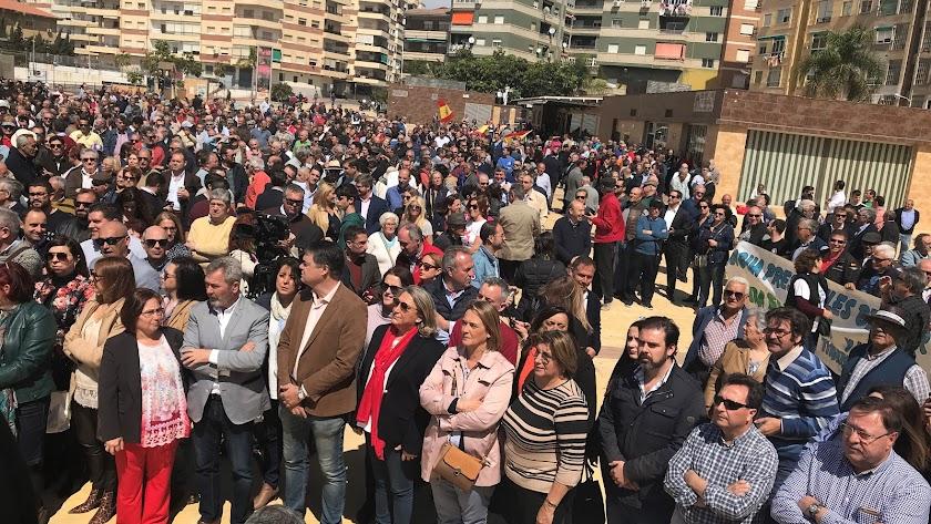 Regantes almerienses en una reciente manifestación en Motril
