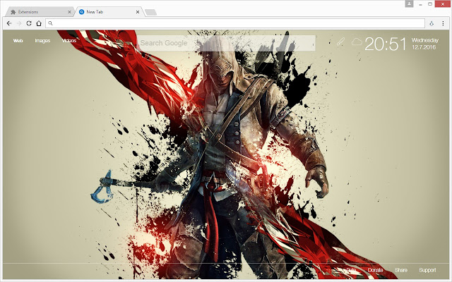 assassin s creed wallpapers hd new tab themes