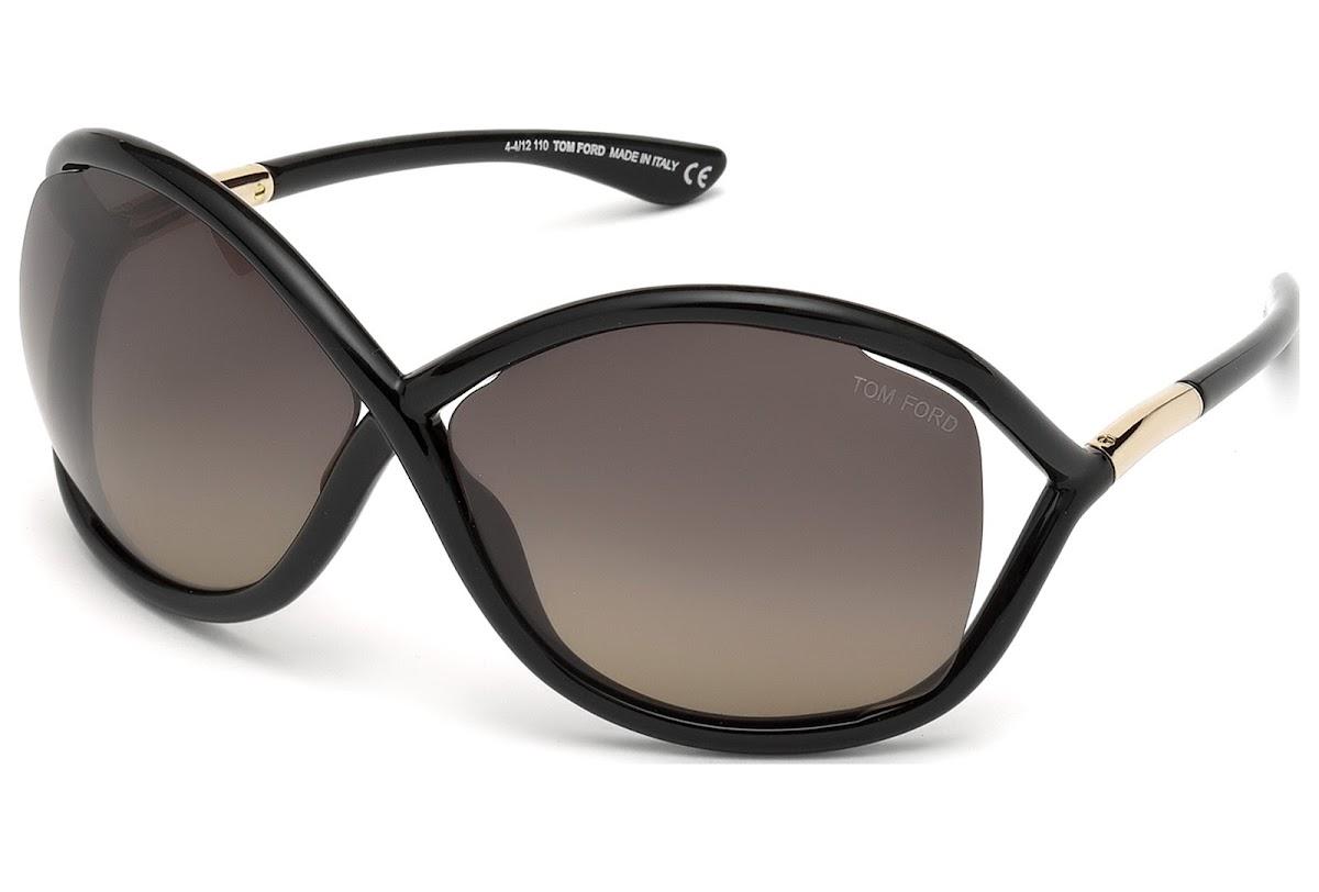 Acheter Lunettes de soleil Tom Ford Whitney FT0009 C64 01D (shiny black    smoke polarized)   opti.fashion c16c998787b1