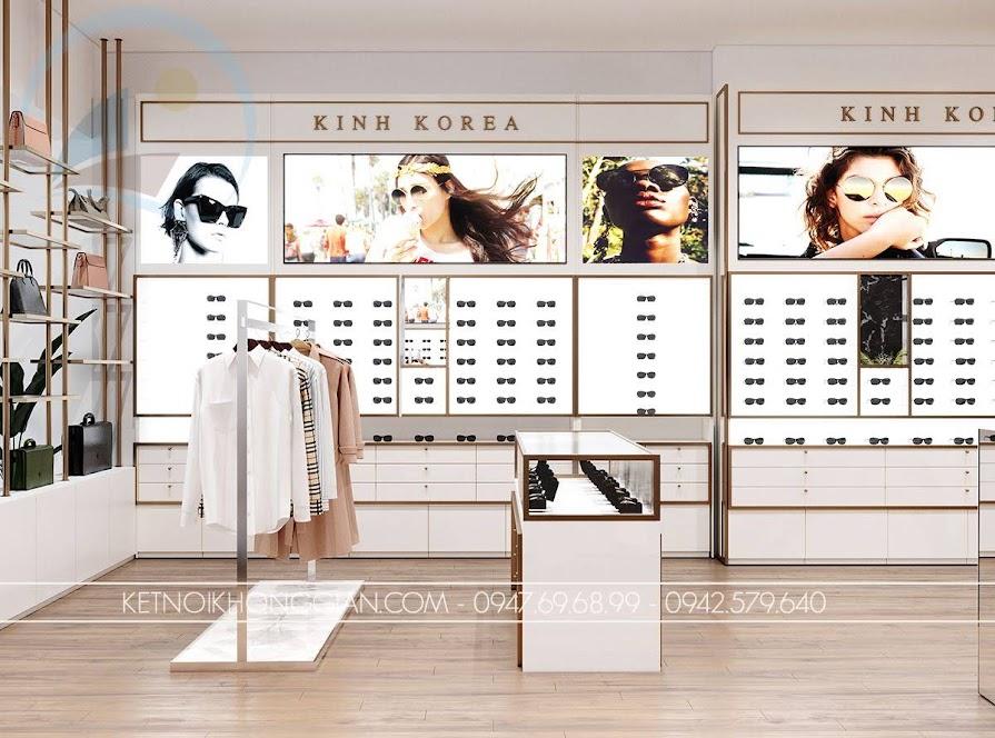 nội thất shop kính mắt thời trang