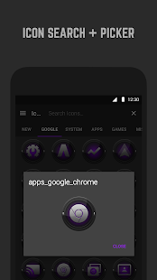 Black and Purple Icon Pack- screenshot thumbnail