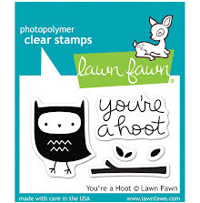 Lawn Fawn Clear Stamps 3X2 - Youre A Hoot