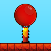 Red Bouncing Ball Jump Spikes