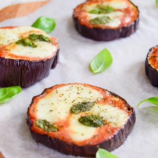 Low Carb Aubergine (Eggplant) Pizza.