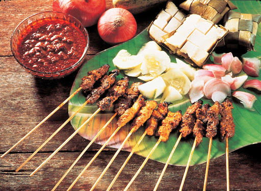 singapore-cuisine.jpg - Traditional Singapore cuisine of fresh meat and produce.