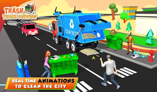 Urban Garbage Truck Driving - Waste Transporter 1 screenshots 18