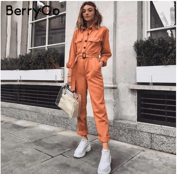 orange suit for color blocking