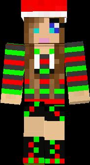 Christmas girl made from a steve!