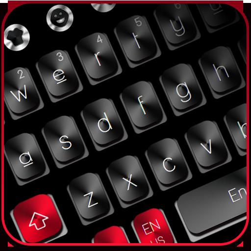 Black Red Metal Keyboard