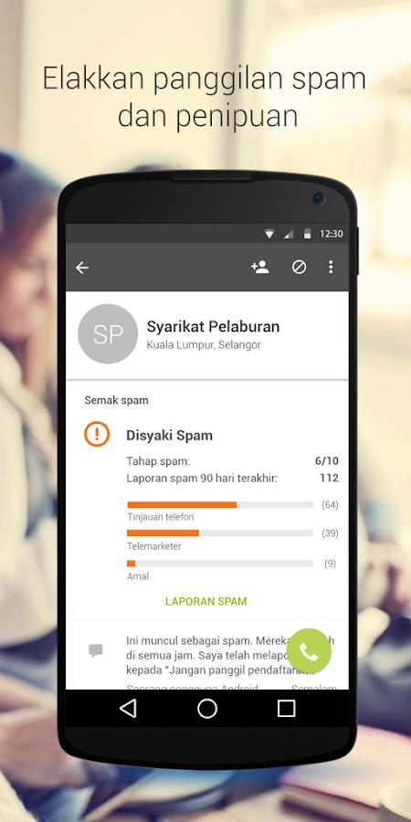 Whitepages ID Pemanggil &Sekat- tangkapan skrin