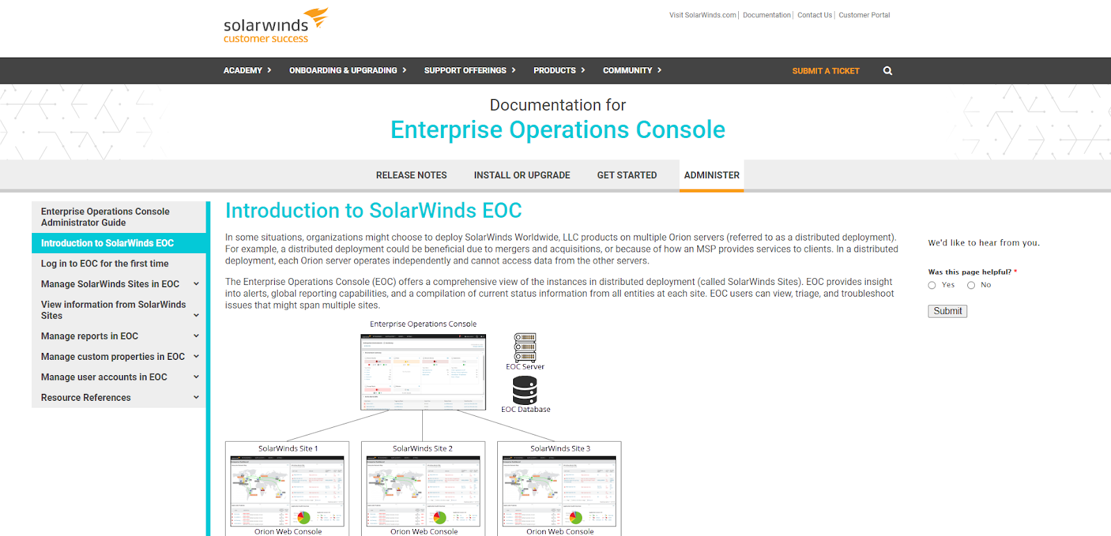SolarWinds Enterprise Console Network Monitoring Tool