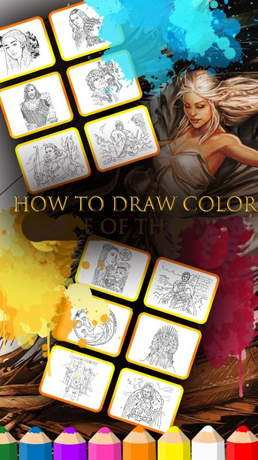 fun game of thrones coloring online game screenshot