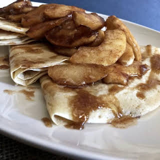 Celebrate the Flavors of Fall with Sauteed Cinnamon Apple Crepes.