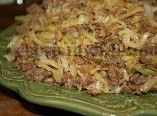 Stir Fry Cabbage With Ground Beef