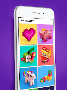 Voxly - Color by Number 3D, Unicorn pixel art 3.3