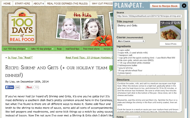 Plan to Eat Recipe Clipper