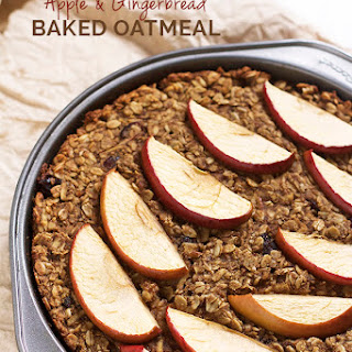Vegan Apple & Gingerbread Baked Oatmeal