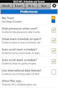 Screenshot of Football NFL Schedule & Scores