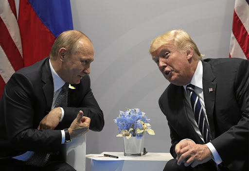 Russian president Vladimir Putin and US president Donald Trump represent the shifting landscape of global power, says the writer. /Getty Images