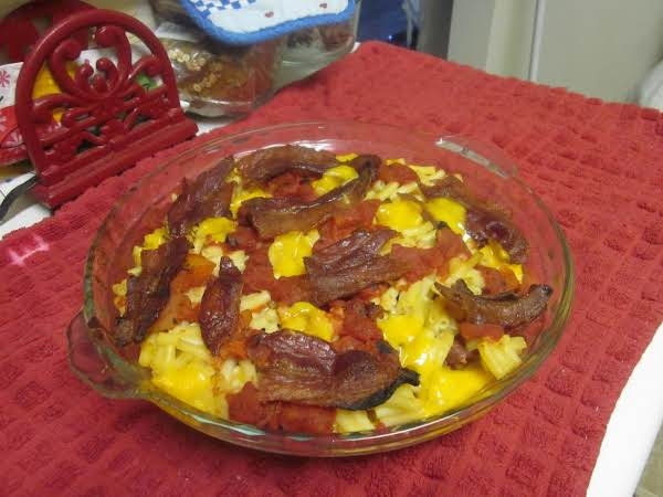 Mac' N Cheese With Bacon And Fire Roasted Tomatoes Recipe