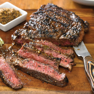 Steak with Cuban-Style Marinade.