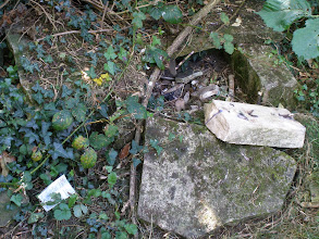 Photo: Desecrated grave in Mill Road cemetry