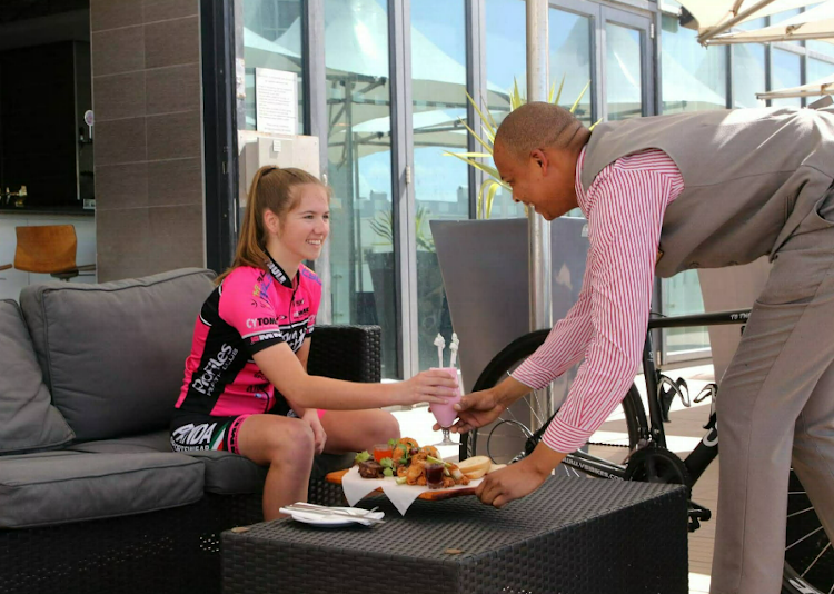 Cycle tour participants get special treatment at the Radisson Blu hotel