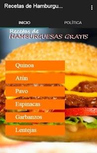 Recetas de Hamburguesas Gratis - náhled