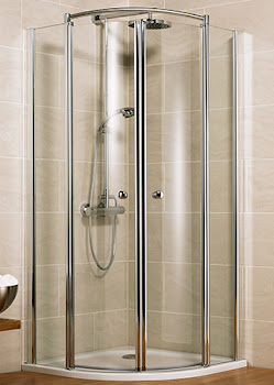 Paroi de douche arrondie Bella Lux II, 75 à 130 cm