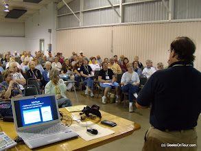 Photo: Geeks on Tour seminars are very popular at RV rallies.