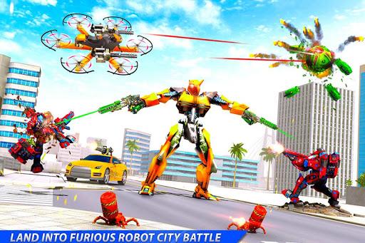 Drone Robot Car Transforming Gameu2013 Car Robot Games screenshots 18