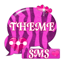 Pink Zebra GO SMS Theme icon