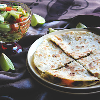 Ground Beef Quesadilla with Cheese.
