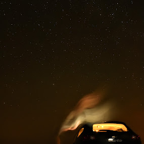 Scary Night by Rahul Trivedi - Abstract Light Painting ( scary, cars, stars, spirit, night,  )