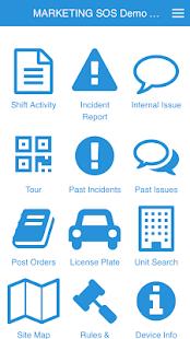 App SOS - náhled