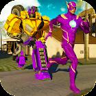 Reglas de Flash Flying Robotic Shooter Rope Hero icon