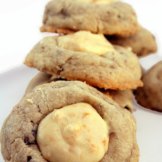 Butter Pecan Thumbprint Cookies with White Chocolate Feuilletine