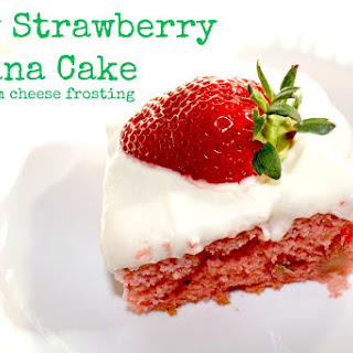 Easy Strawberry Banana Cake.