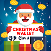 Christmas real gift card , Christmas wallet