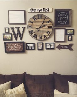 Living Room Rustic Wall Decoration Ideas - náhled