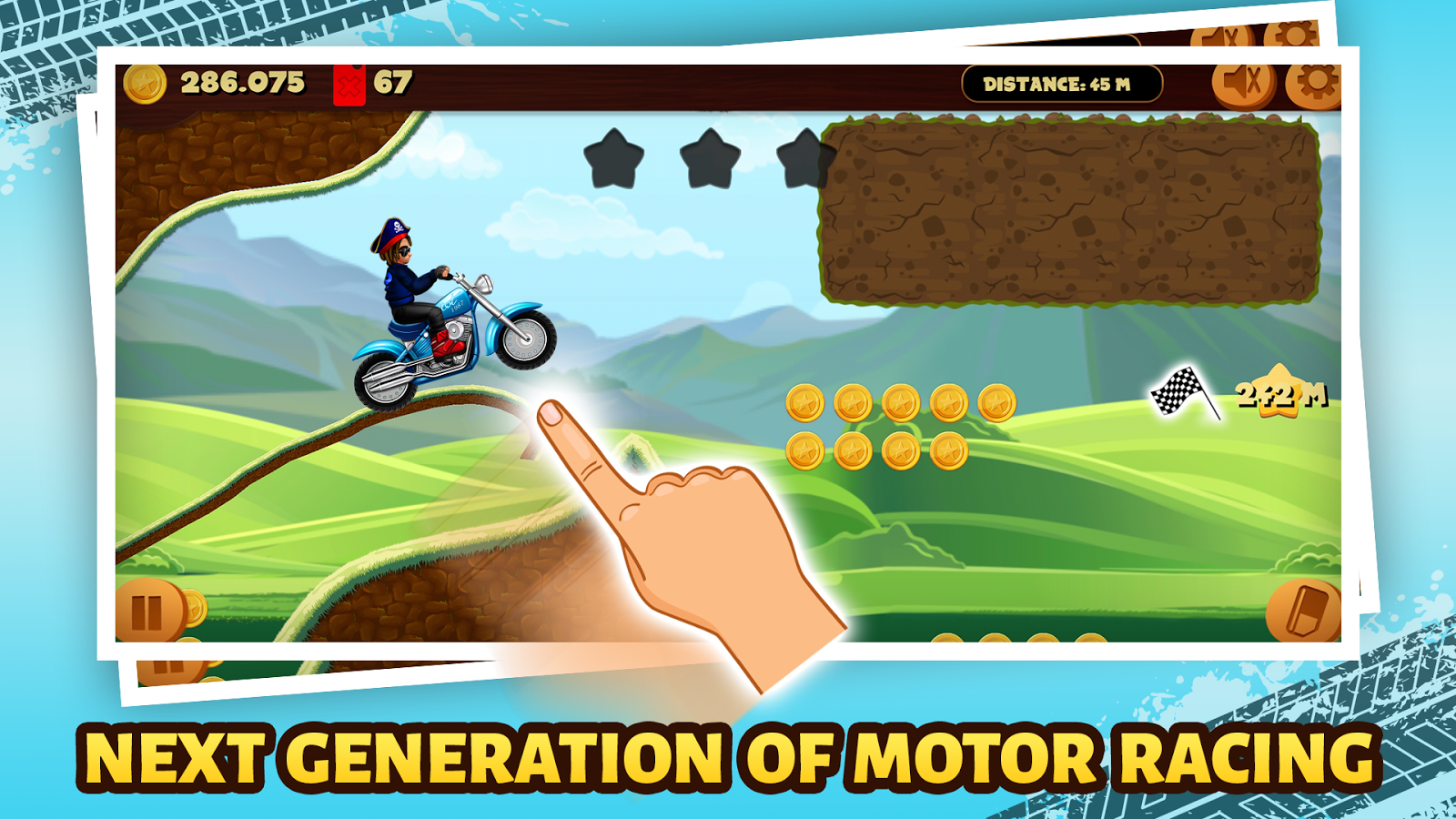 Road Draw: Hill Climb Moto Race- screenshot